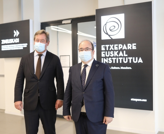 Meeting between the Basque and Spanish Ministers for Culture at the Etxepare Basque Institute